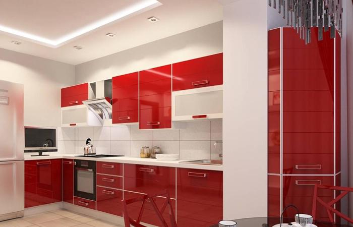 Кухни красочных оттенков