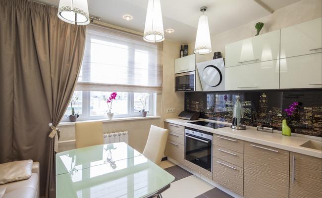Три яруса кухонной мебели