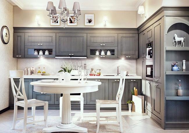 Стильная угловая кухня - пример
