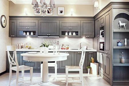 Стильная угловая кухня: особенности и преимущества