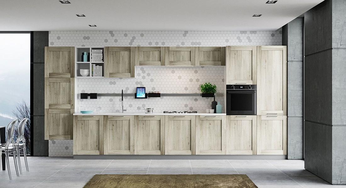 Фасады для кухни из шпона
