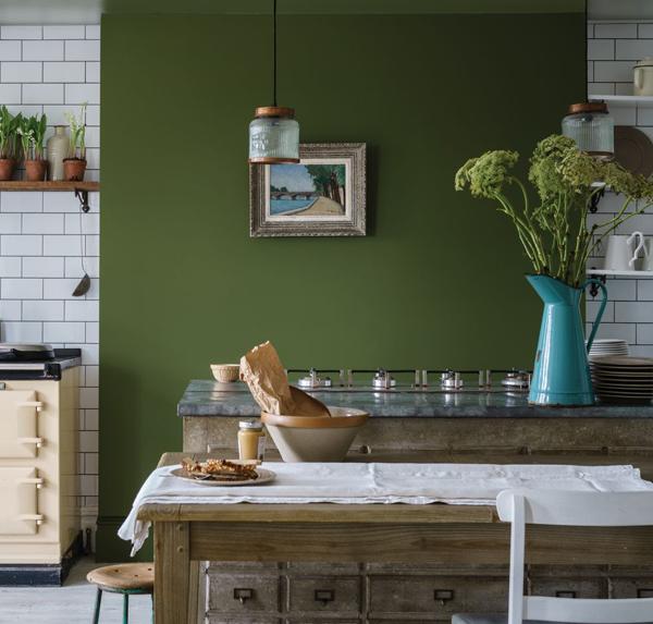 Кухня в оливковом цвете -модный тренд 2019